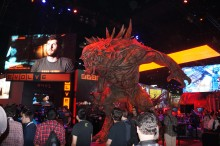 The Evolve booth was a monster. A BIG monster.