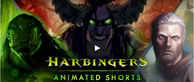 Harbingers Animated Shorts trailer screen
