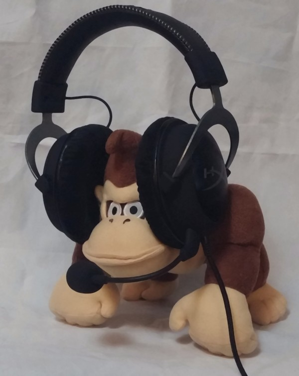 Donkey Kong with HyperX Cloud II gaming headset