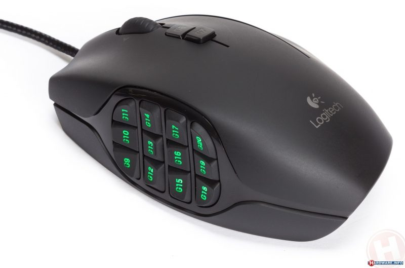 Logitech G600 MMO gaming mouse.