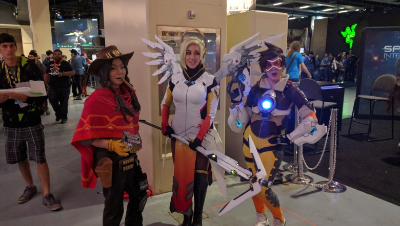 McCree, Mercy, and Tracer.